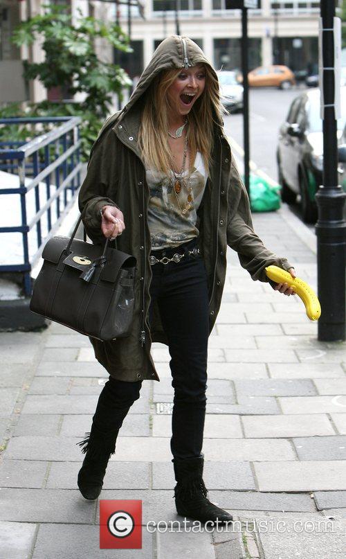Fearne Cotton leaving the Radio 1 studios having...