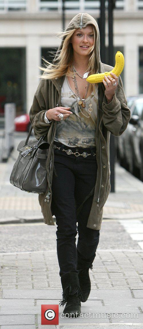Fearne Cotton leaving the Radio 1 studios having...