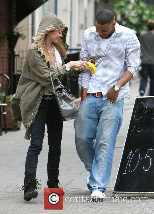 Fearne Cotton and Reggie Yates leaving the Radio...