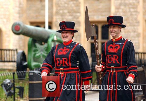 The first ever female Beefeater Yeoman Warder Moira...