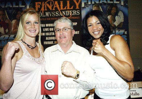 Female Professional Boxer Holly Holm, Promoter Lenny Fresquez...