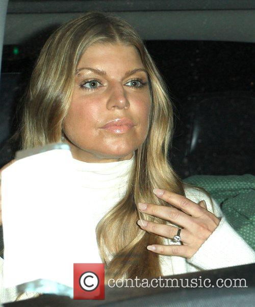 Fergie aka Stacy Ferguson leaving Katsuya restaurant Hollywood,...