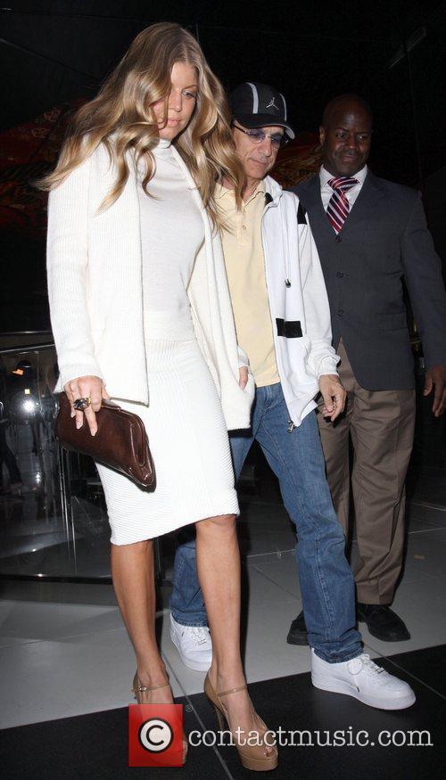 Fergie aka Stacy Ferguson and Jimmy Iveen leaving...