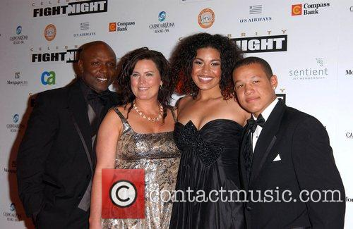 Jordin Sparks and family Fight Night XIV held...