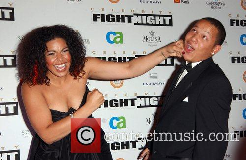 Jordin Sparks and her brother Fight Night XIV...