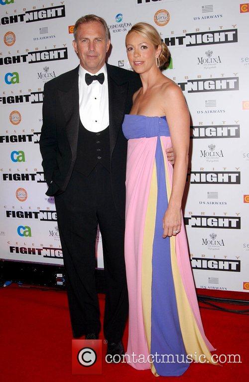 Kevin Costner and wife Christine Baumgartner Fight Night...