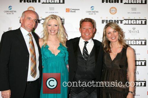 Melissa Peterman and husband with Chris Rich and...