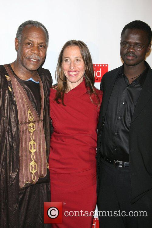 Danny Glover, Caroline Baron, Founder Of Filmaid and Valentino Achak Deng 5