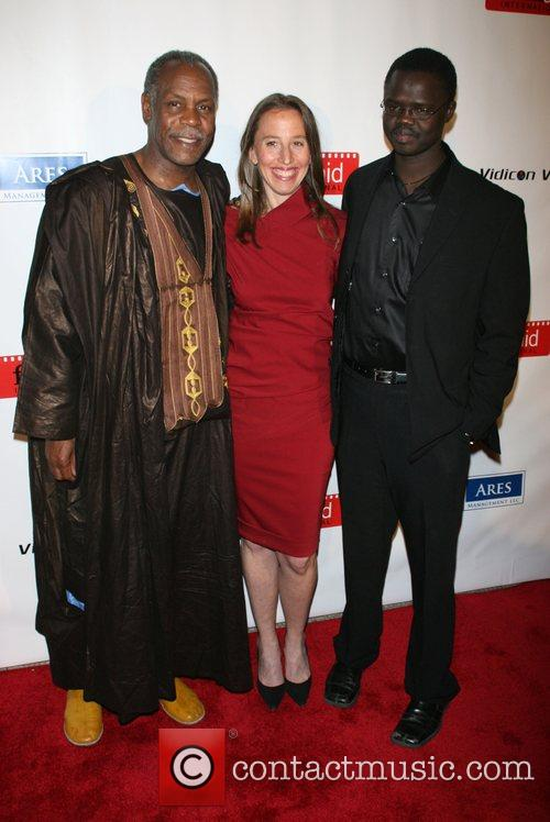 Danny Glover, Caroline Baron, Founder Of Filmaid and Valentino Achak Deng 7