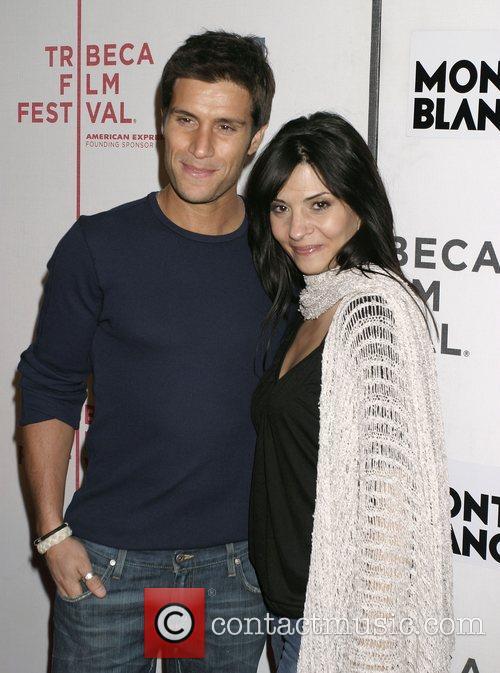 Michael Lombardi and Callie Thorne Tribeca Film Festival...