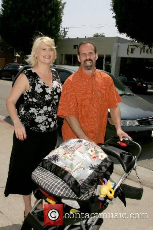 Kristy Swanson, Lloyd Eisler and their baby Magnus...