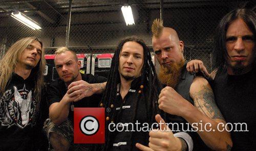Five Finger Death Punch photo shoot Las Vegas,...