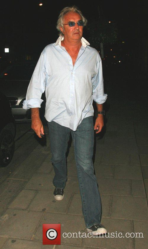 Flavio Briatore leaving Cipriani restaurant in Soho...