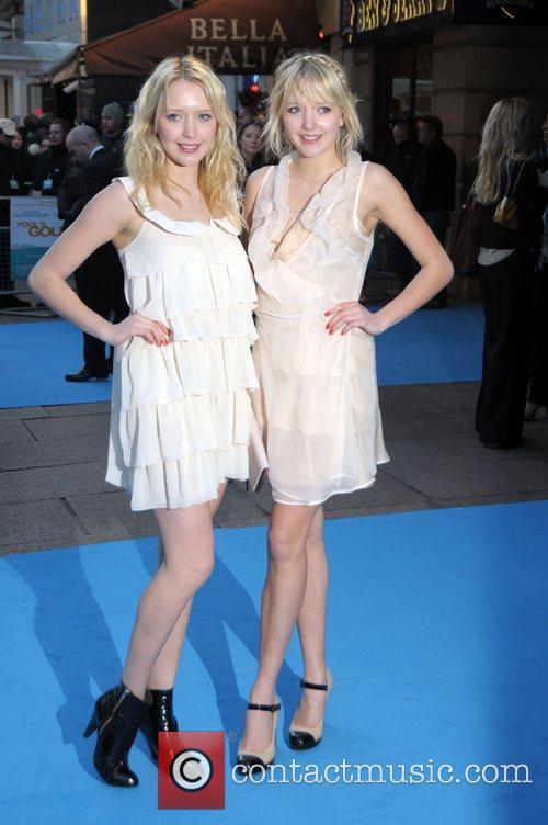 Samantha Marchant and Amanda Marchant UK film Premiere...