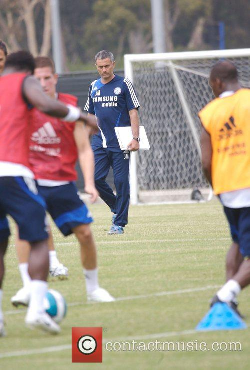 Jose Mourinho Chelsea Football Club Training Camp at...