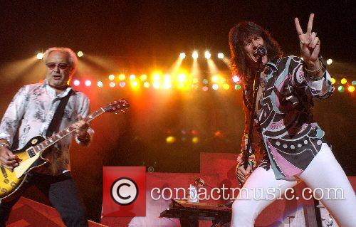 Foreigner performing live at US Cellular Coliseum