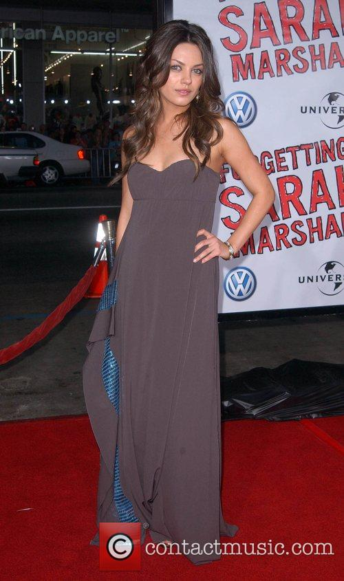 Mila Kunis Premiere of 'Forgetting Sarah Marshall' at...