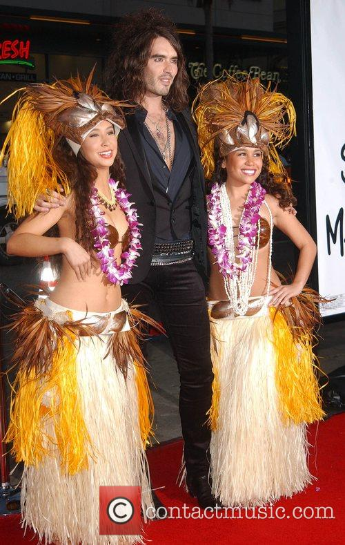 Russell Brand and Hula girls Premiere of 'Forgetting...