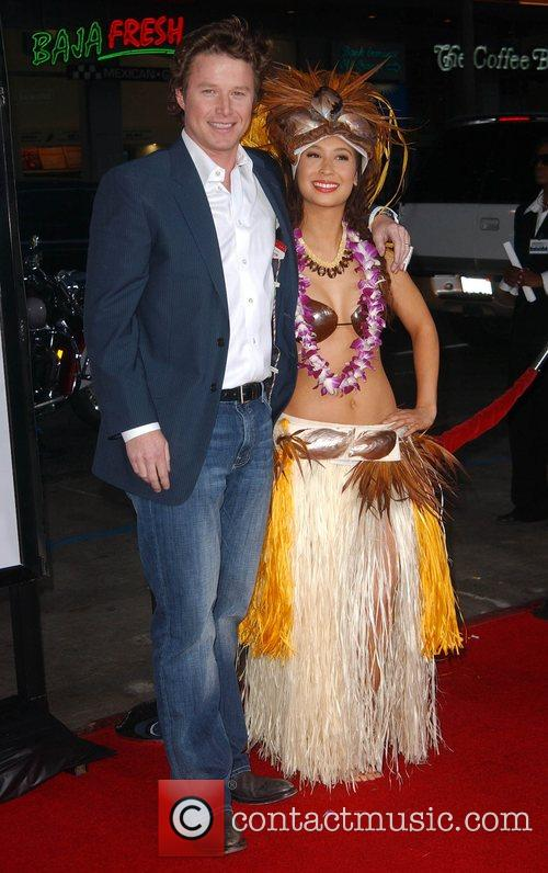 Billy Bush and Hula girl Premiere of 'Forgetting...