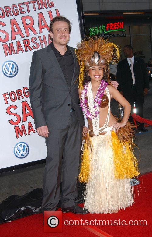 Jason Segel and Hula girl Premiere of 'Forgetting...