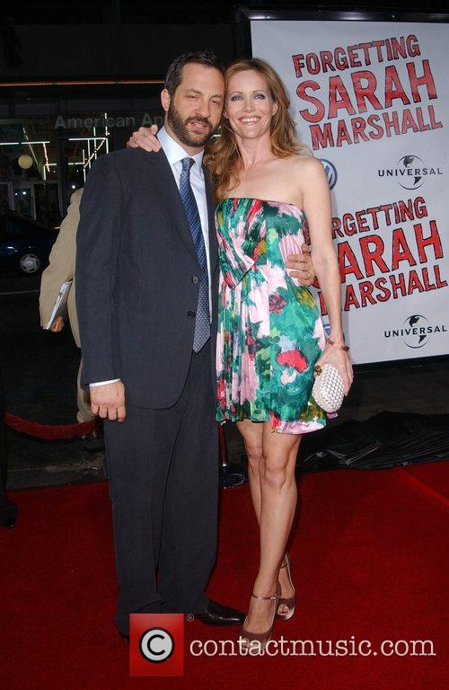 Judd Apatow and Leslie Mann Premiere of 'Forgetting...
