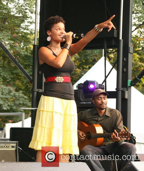 Performs live at Fort Greene Festival held at...