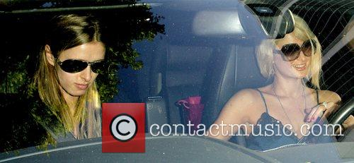 Paris Hilton and Nicky Hilton leaving Forte restaurant...
