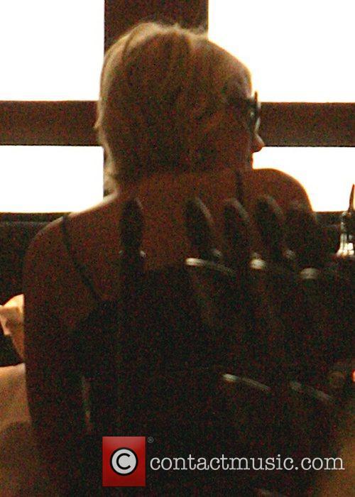 Paris Hilton having lunch at Forte restaurant Los...