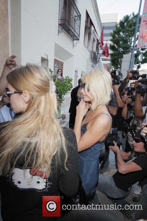 Nicky Hilton and Paris Hilton  leaving Forte...