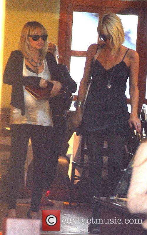Paris Hilton, Nicole Richie  saying goodbye to...
