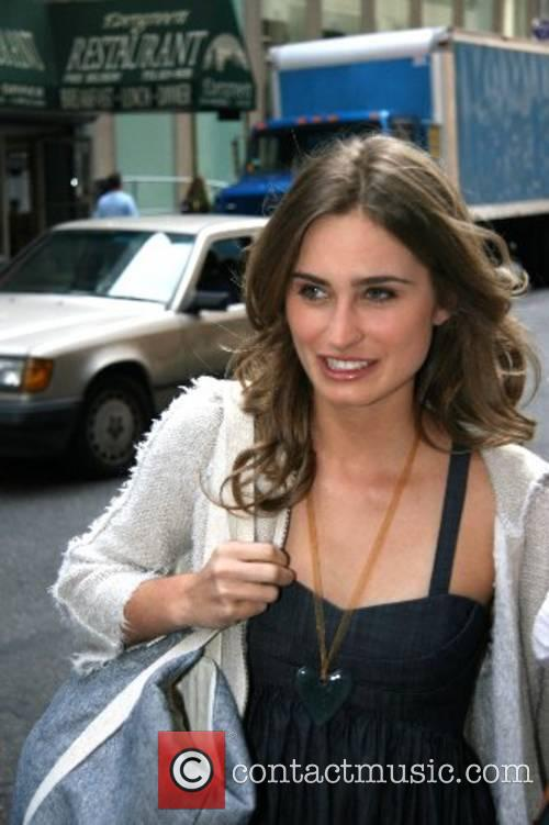 Lauren Bush leaves Fox Studios after appearing on...