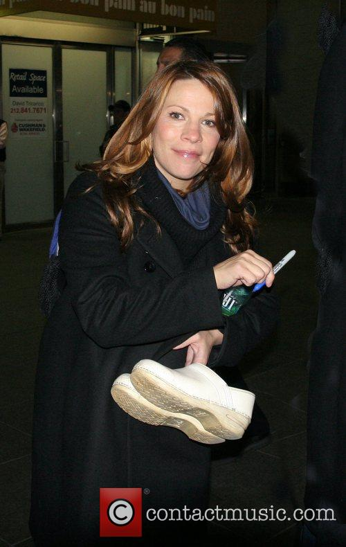 Lili Taylor leaving the Fox Television Studios after...