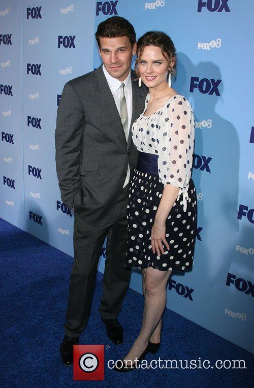 David Boreanaz and Emily Deschanel 2008 FOX Upfront...