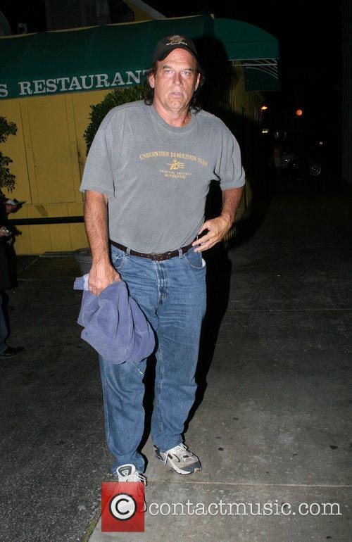 Jesse Ventura leaving Foxtail restaurant Los Angeles, California