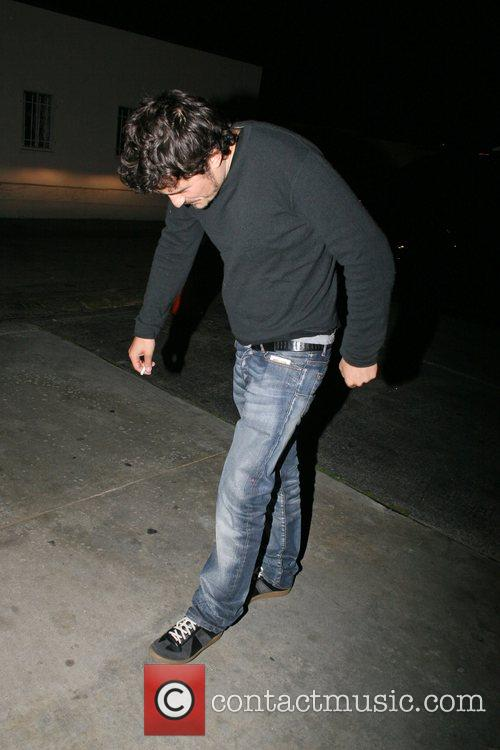 Orlando Bloom arriving at Foxtail restaurant