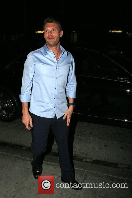 Ryan Seacrest arriving at Foxtail restaurant