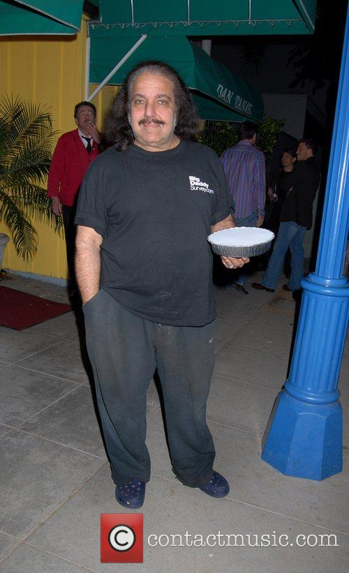 Ron Jeremy leaving Foxtail restaurant West Hollywood, California