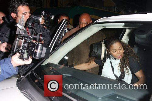 Janet Jackson at Foxtail nightclub in West Hollywood...