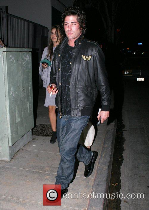 Brandon Davis arriving at Foxtail restaurant West Hollywood,...