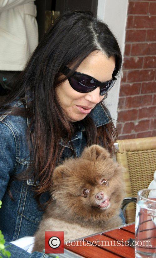 Fran Drescher and Her Dog Esther 3