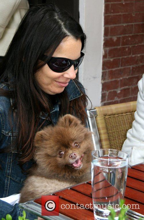 Fran Drescher and Her Dog Esther 1