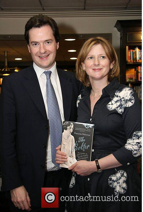 Conservative shadow chancellor George Osborne and his wife...