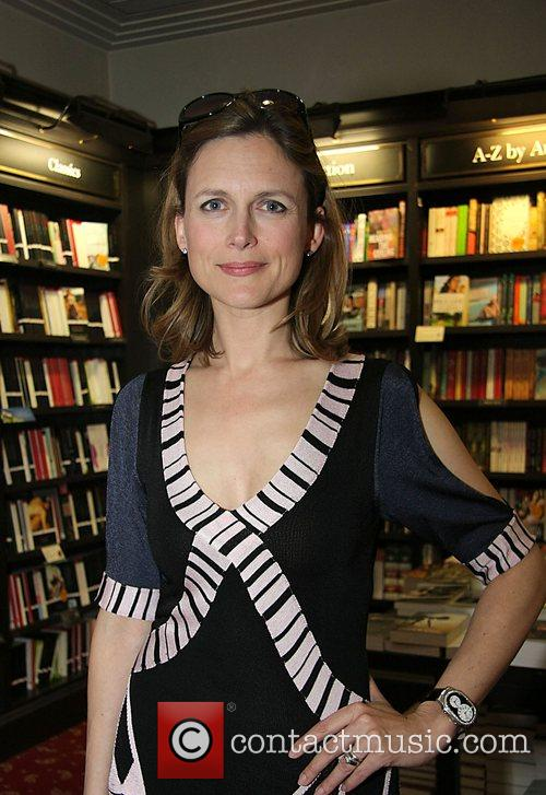 Katie Derhan Attends the book signing session for...