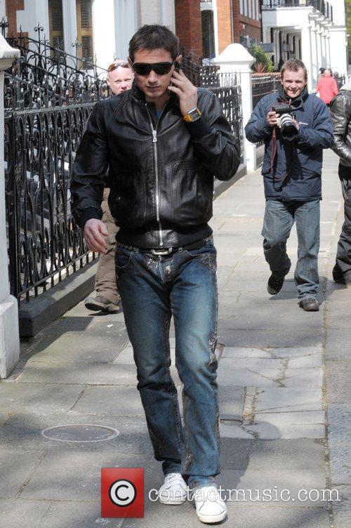 Seen walking through west London, talking on his...