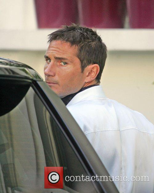Frank Lampard The Chelsea midfielder leaves his house...