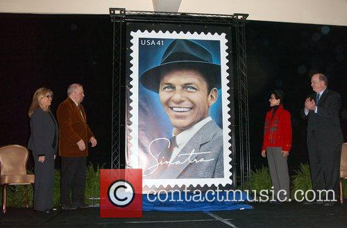 Frank Sinatra Stamp Unveiling Ceremony at the Beverly...