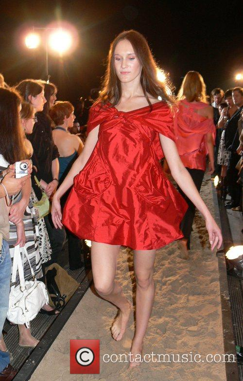 Model f.rau Becker Fashion Show at the Spindler...