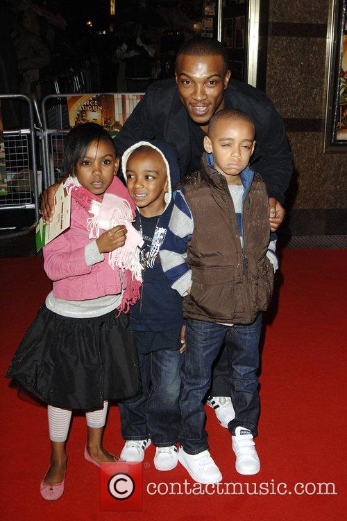 Ashley Walters and family 'Fred Claus' UK Premiere...