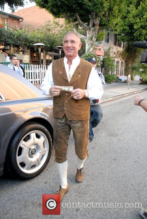 Frederic Prinz von Anhalt outside the Ivy Restaurant...