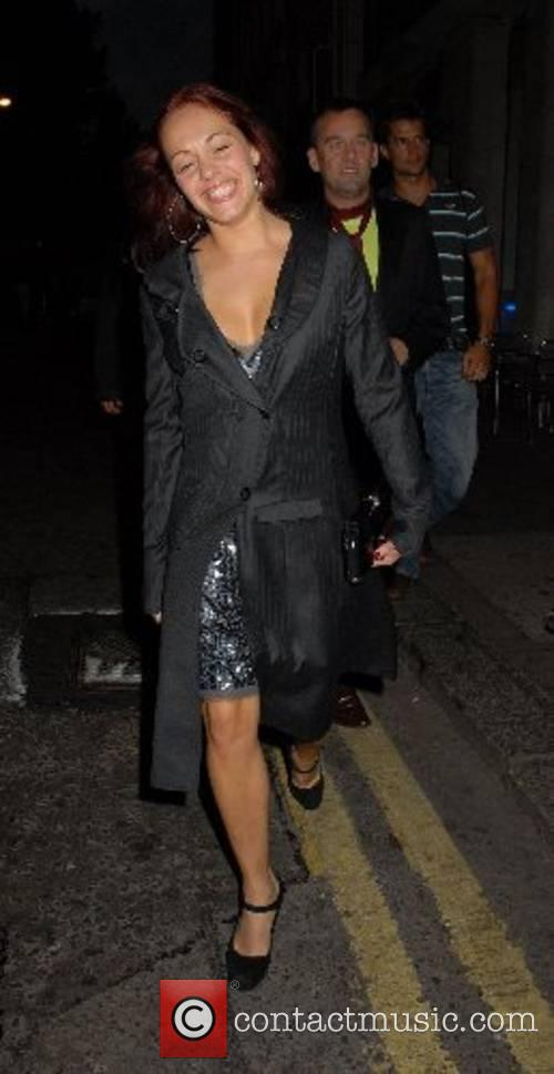Sarah Cawood arrives at Brian Friedman's Birthday at...
